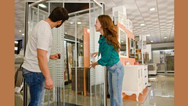Glass shower enclosure enables elegance in your bathroom