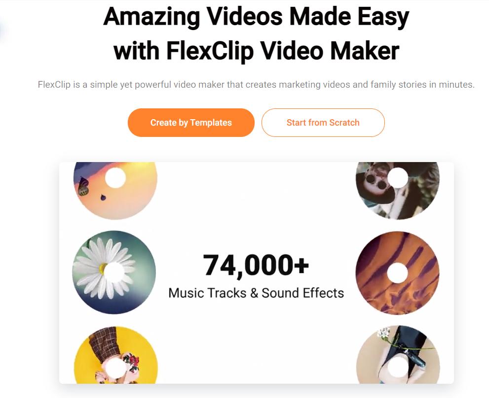 FlexClip: Even novice Can Edit Videos in Minutes