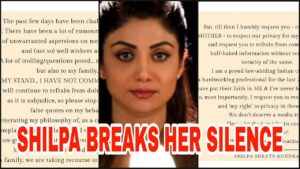 Shilpa Shetty shares a post on Instagram after Raj Kundra's arrest.