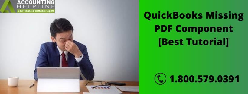 QuickBooks Missing PDF Component [Best Tutorial]